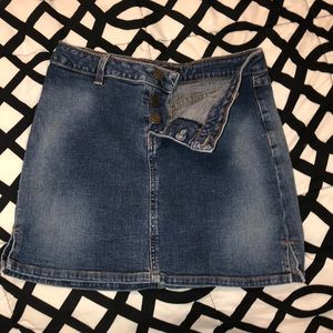 Jean skirt button up stretchy size 4